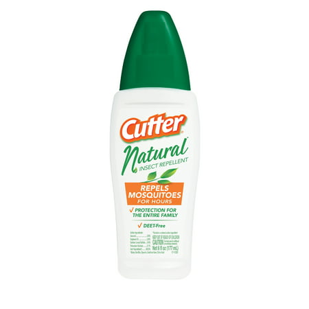 Cutter Natural Insect Repellent, DEET- Free Pump Spray, 6-Ounce