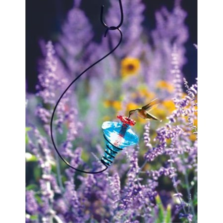 MiniBlossom Hummingbird Feeder Hanging Aqua