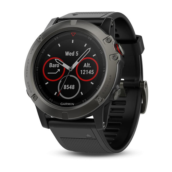 Garmin Fenix 5X Sapphire Slate Gray with Black Band by Garmin