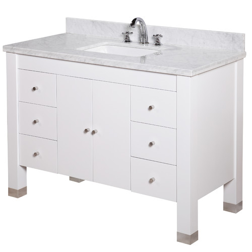 Kitchen Bath Collection Riley 48u0027u0027 Single Bathroom Vanity Set