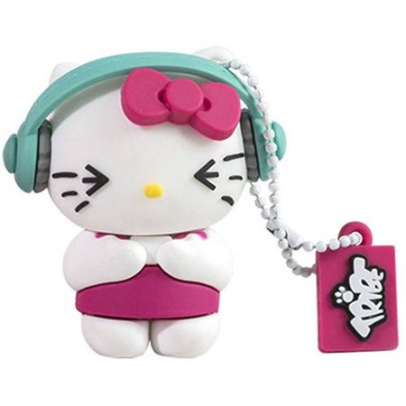 Tribe Hello Kitty DJ 8GB USB Flash Drive 2.1 Gb Disk Drive