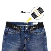 No Buckle Stretch Belt For Women/Men Buckle Free Elastic Waist Belt for Jeans