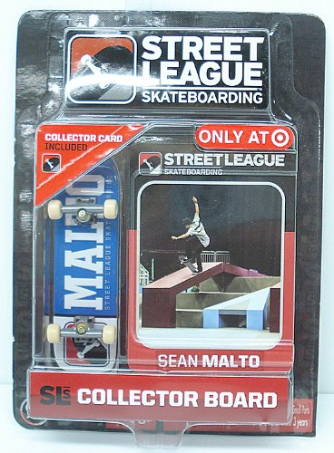 Street League Skateboarding Pro Series 1 Blue Skateboard Sean Malto Card by Street League