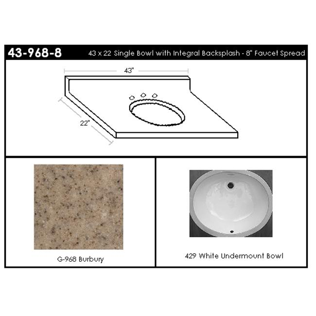 MarCraft 43-968-8 Single Bowl Vanity Top