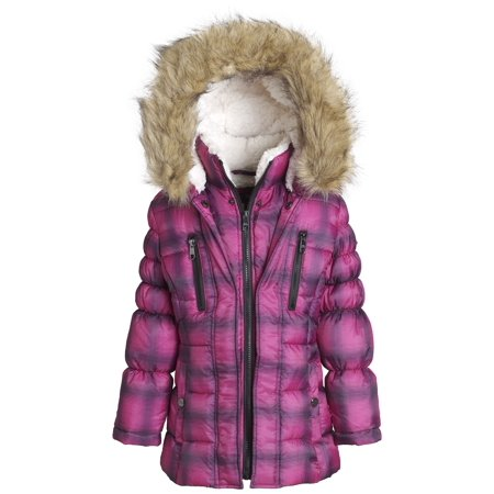 14a73e79bf5 Steve Madden Girl Winter Down Alternative Hooded Short Bubble Puffer Jacket  Coat