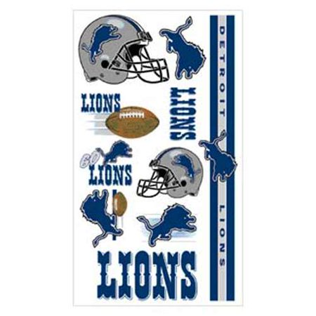 Detroit Lions Temporary Tattoos