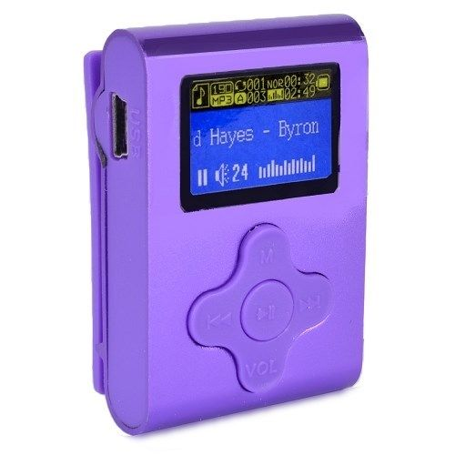 Eclipse USB 4GB Digital LCD Display MP3 Media Clip On Rechargeable Music Player