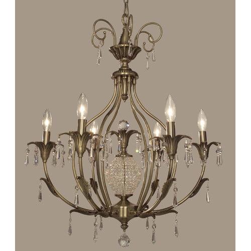 Classic Lighting Sharon 6 Light Chandelier