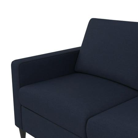 DHP Cooper Modern Sectional Sofa, Blue Linen