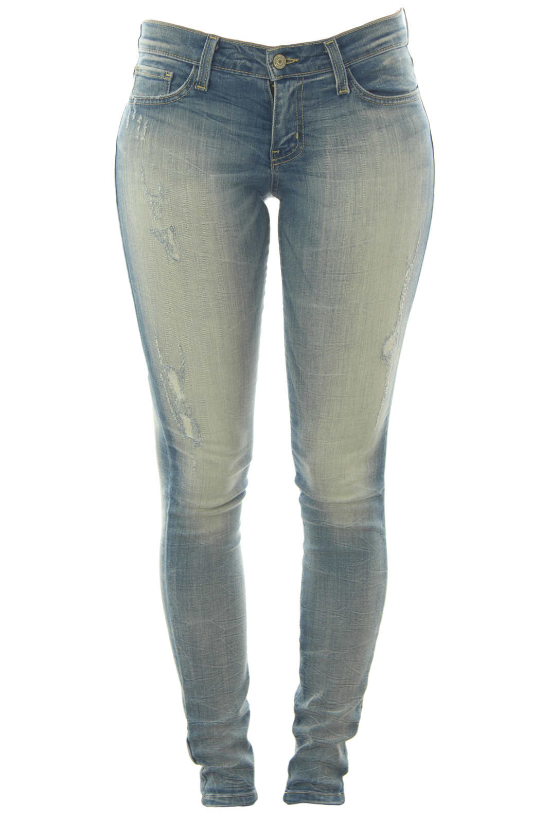Flying Monkey Crinkle Wash Skinny Jeans 25 Light Denim