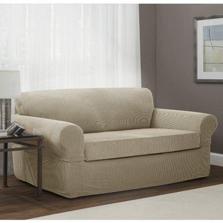Red Barrel Studio Box Cushion Sofa Slipcover Walmart Com