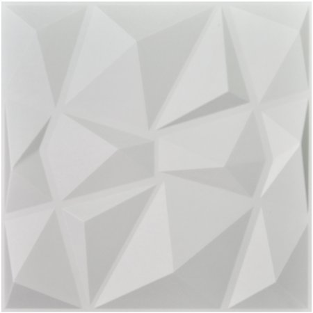 Art3d Decorative 3D Wall Panels Textured Wall Art Diamond Design Pack of 12 Tiles 32 Sq Ft (Plant Fiber)