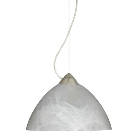 Besa Lighting 1KX-420152 Tessa 1 Light Cable-Hung Pendant with Marble Glass