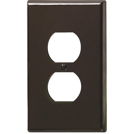 Leviton  001-85103-BRN Single Gang Brown Duplex Receptacle Wallplate Gang Receptacle Wall Plate