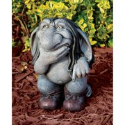 Design Toscano Pondering Sylvester, the Cynical Gnome Troll Statue