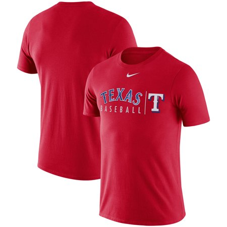 Texas Rangers Nike 2019 Practice T-Shirt - Red (Best Fishing In Texas 2019)