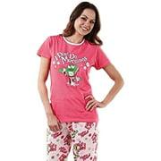 M&M's Candy Women's Junior I Don't Do Mornings Pajama Lounge Sleep Set 2-Piece PJ Set (XX-Large)