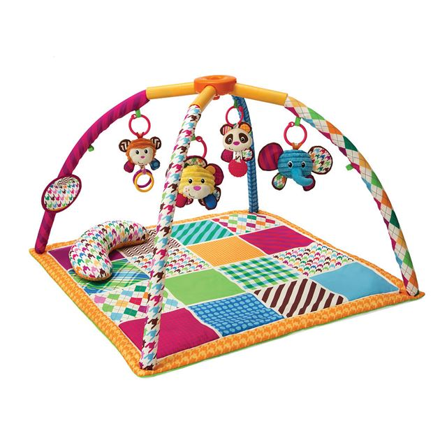 Infantino See Play Go Safari Fun Twist & Fold Activity Gym & Play Mat