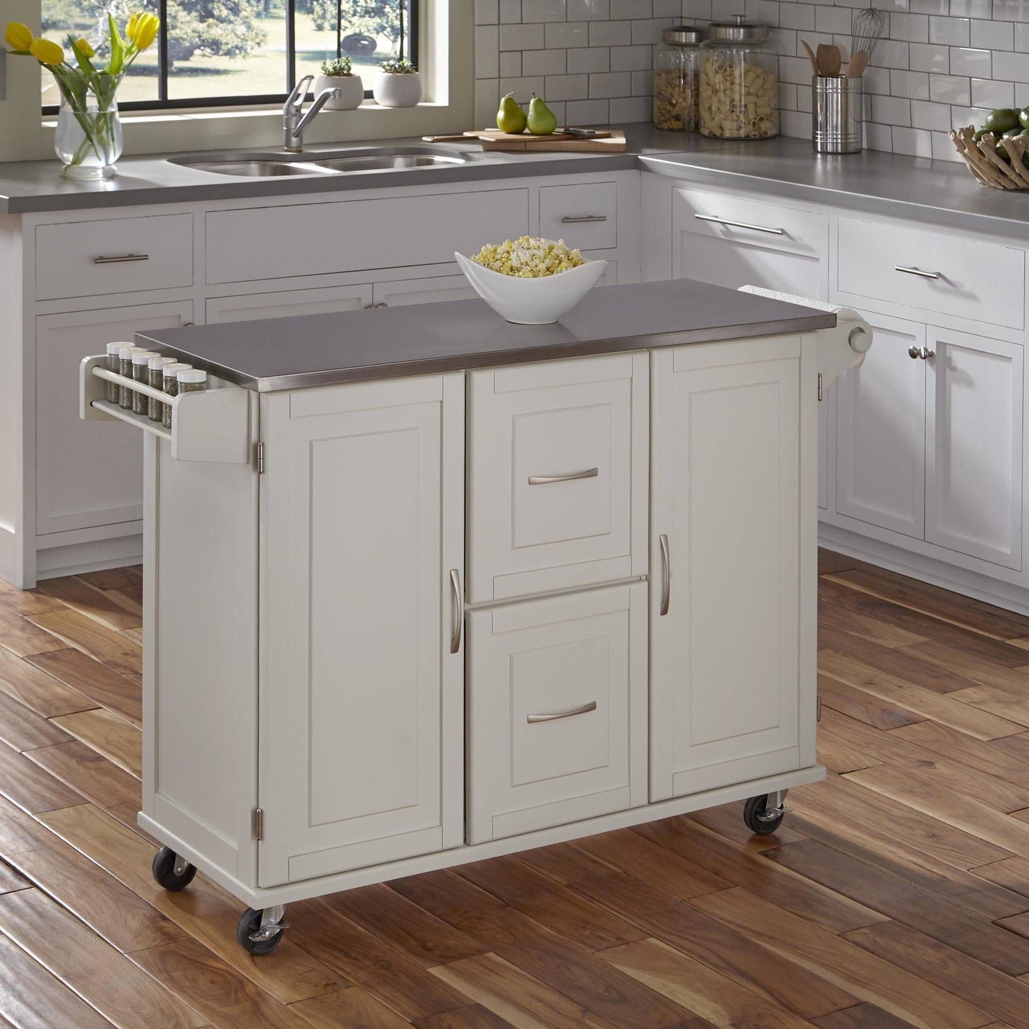 patriot kitchen cart, white - walmart