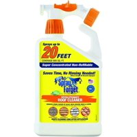 Spray & Forget Revolutionary Roof Cleaner with Hose End Sprayer, 32 oz Bottle, 1 Count, Outdoor Cleaner, Mold Remover, Mildew Remover