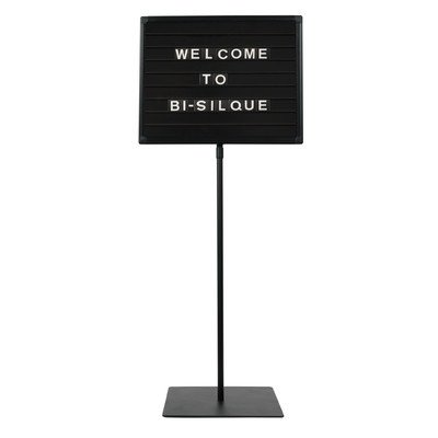 """SIG04040404 MasterVision Magnetic Letter Board Stand 16""""x20"""" Black"""