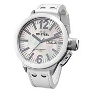 CEO Canteen White Genuine Leather MOP Dial