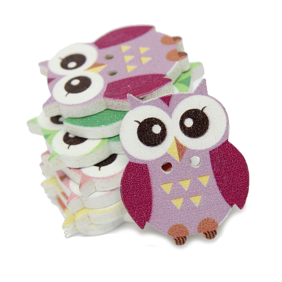 Handmade Owl Buttons Sewing Buttons 34 = 20 mm. 8 Assorted Owl buttons