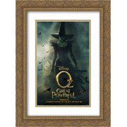 Oz The Great and Powerful 18x24 Double Matted Gold Ornate Framed Movie Poster Art Print