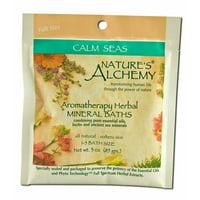 Nature's Alchemy - Aromatherapy Mineral Baths, Calm Seas 3 oz each
