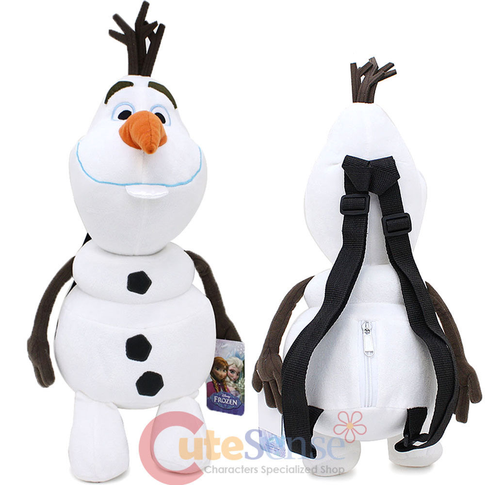 Disney Frozen Olaf Plush Doll Backpack Snow Man Costume Bag
