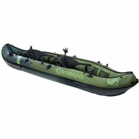 Sevylor colorado fish hunt 2 person inflatable kayak for 2 seater fishing kayak