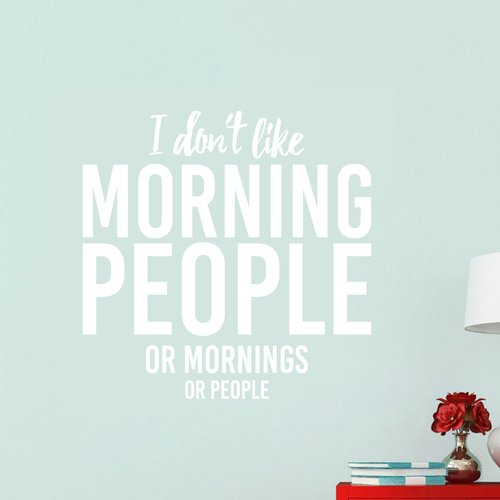 Ebern Designs I Don't Like Morning People Wall Decal