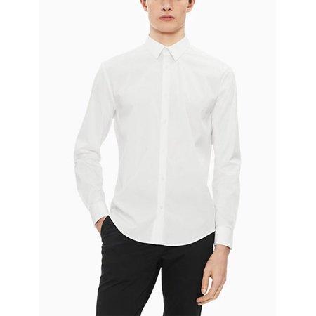 Slim-Fit Long-Sleeve Shirt Mens White Blank T-shirt