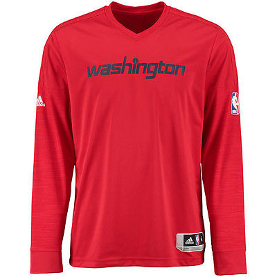Washington Wizards Adidas NBA Men's On-Court Authentic Long Sleeve Shooting Shirt - M