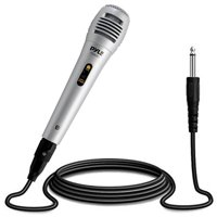 PYLE PDMIK1 - Dynamic Microphone, Professional Moving Coil Handheld Mic with 6.5' ft. XLR Cable