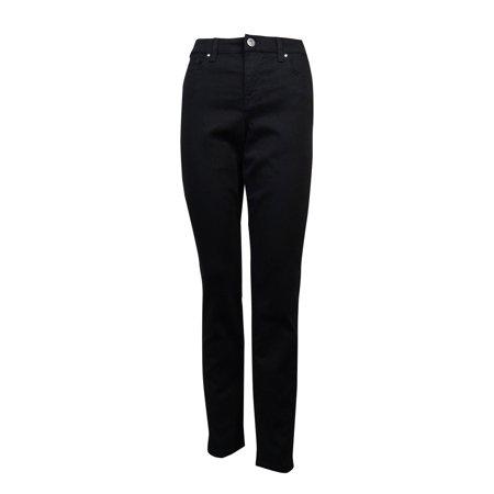 - Style & Co. Women's Embellished Back Pocket Mid Rise Pants (6, Black Rinse)