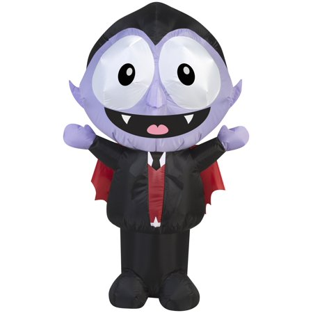 3.5' Airblown Little Dracula with Big Eyes Halloween Inflatable - Halloween Eye Painting Ideas