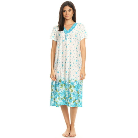 811 Womens Nightgown Sleepwear Cotton Pajamas - Woman Sleeveless Sleep  Dress Nightshirt Green XL - Walmart.com ffc181a6f