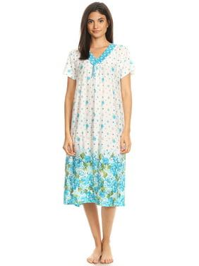 Product Image 811 Womens Nightgown Sleepwear Cotton Pajamas - Woman  Sleeveless Sleep Dress Nightshirt Purple XXL 1d344758e