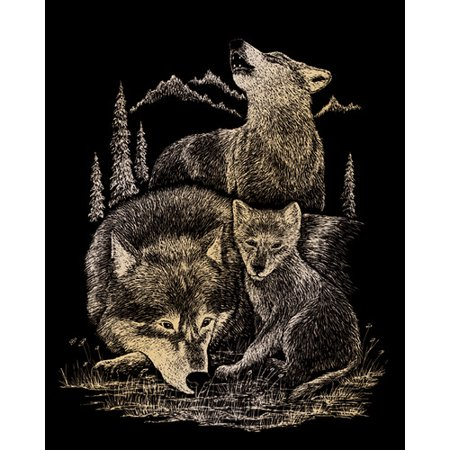 (Royal & Langnickel Wolves Art Engraving)