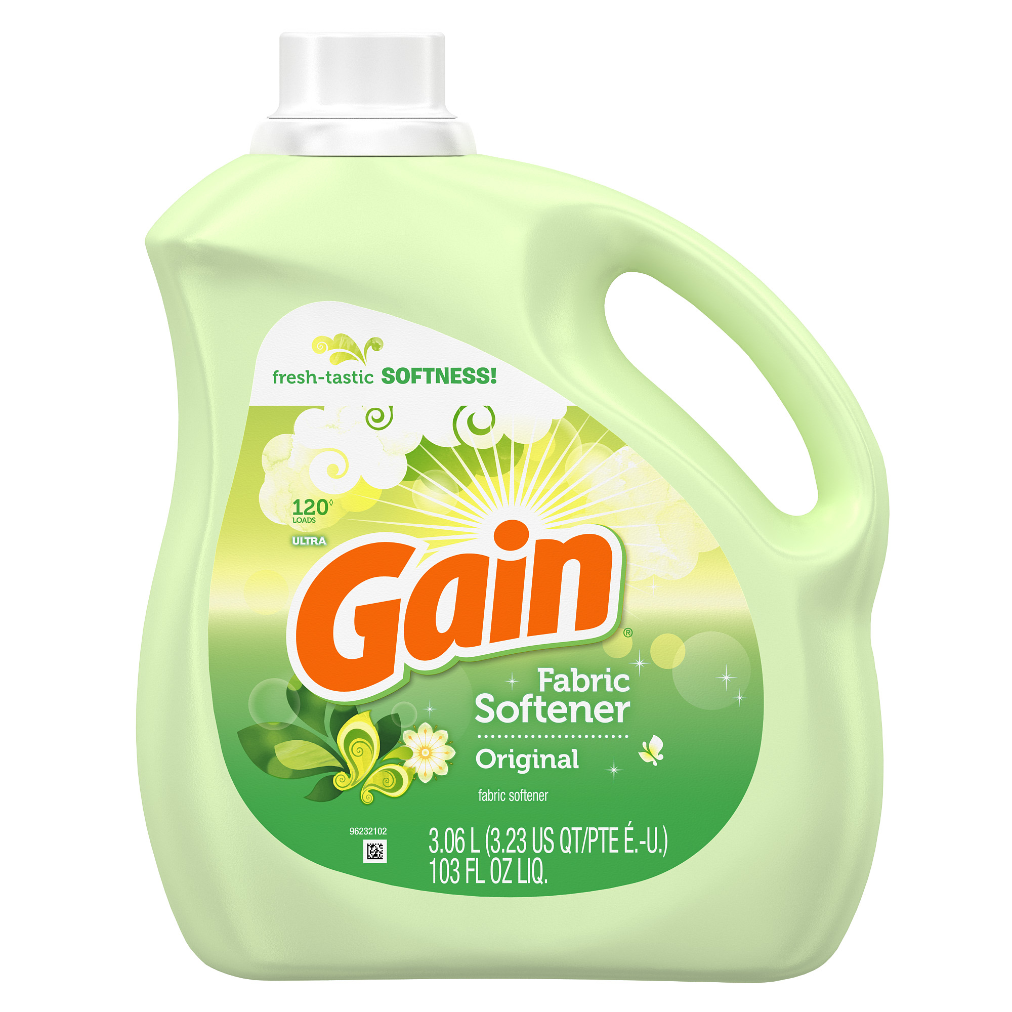 Gain Liquid Fabric Softener, Original Scent, 120 loads, 103 oz