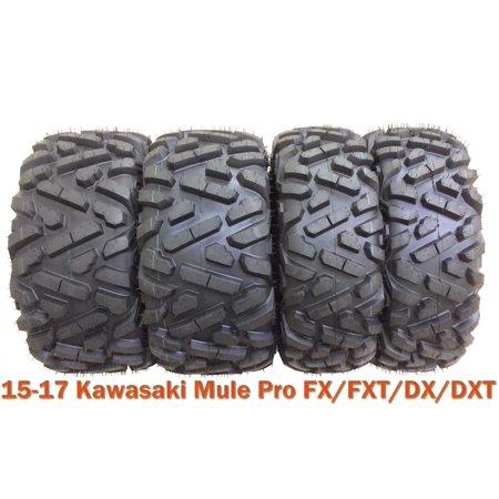 26x9-12 & 26x11-12 Full Set ATV Tires for 15-17 Kawasaki Mule Pro FX/FXT/DX/DXT - Kawasaki Mule Tires
