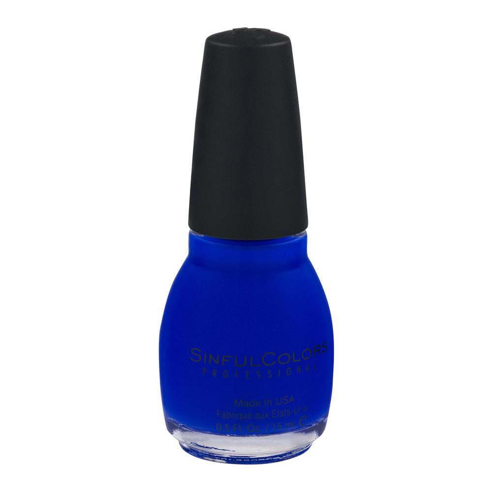 SinfulColors Professional Nail Polish, Endless Blue - Walmart.com
