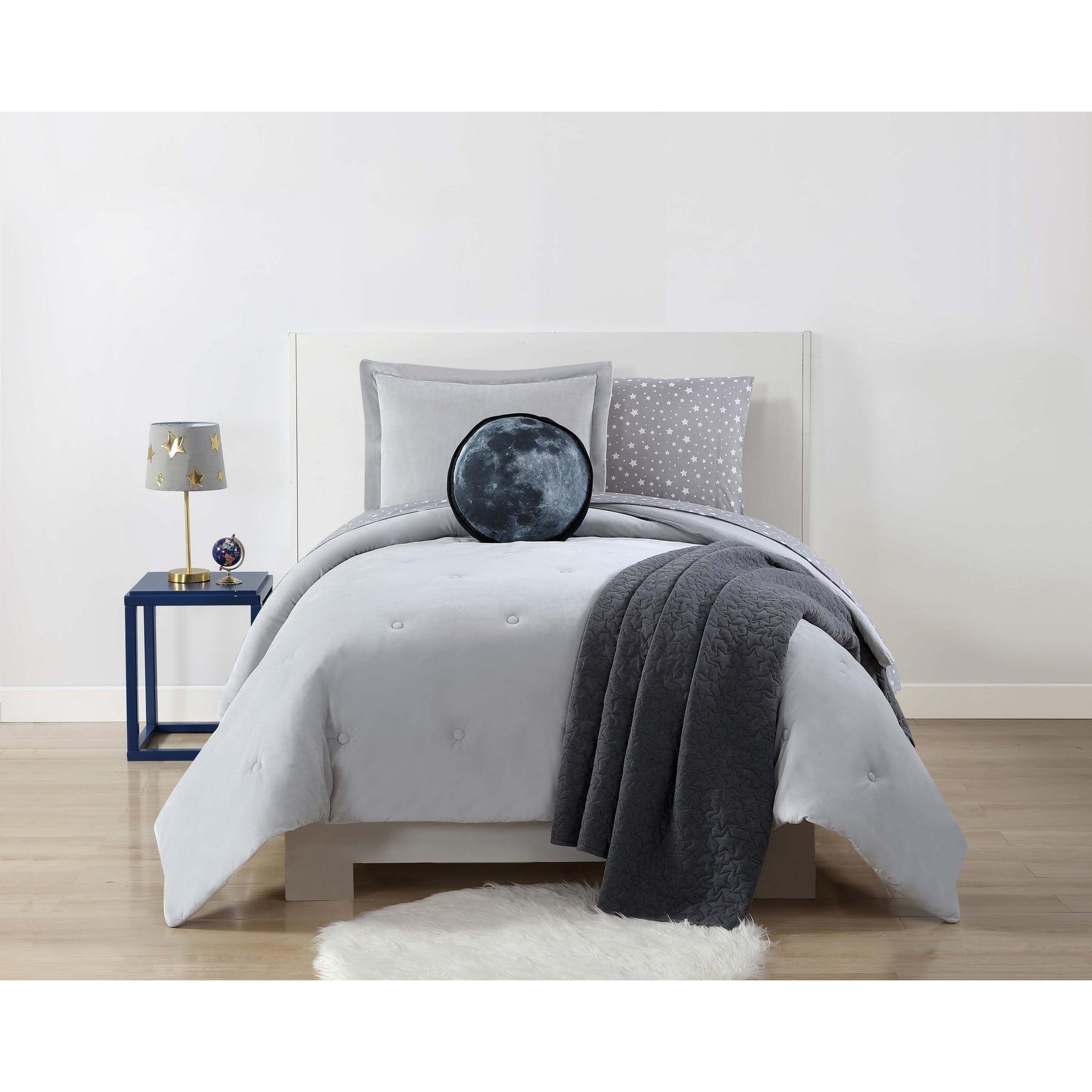 Laura Hart Kids Velvet and Jersey Blue Twin XL Comforter Set