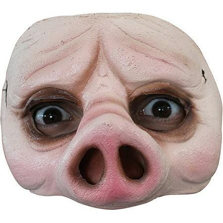 Half Pig Mask Halloween Accessory](Pig Saw Mask)