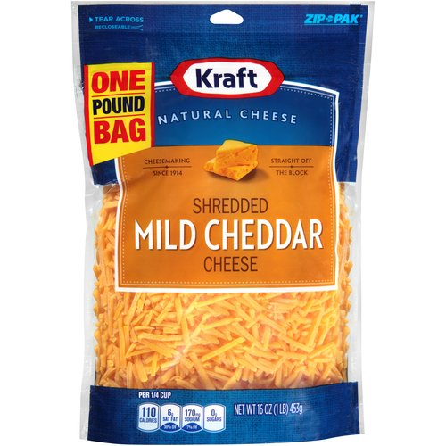 Kraft Mild Cheddar Shredded Cheese, 16 oz