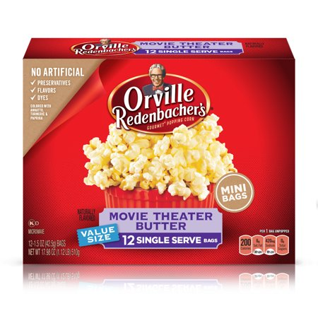 Orville Redenbacher's Movie Theater Butter Microwave Popcorn, 1.5 Ounce Single Serve Bag, 12-Count - Halloween Witch Hand Popcorn
