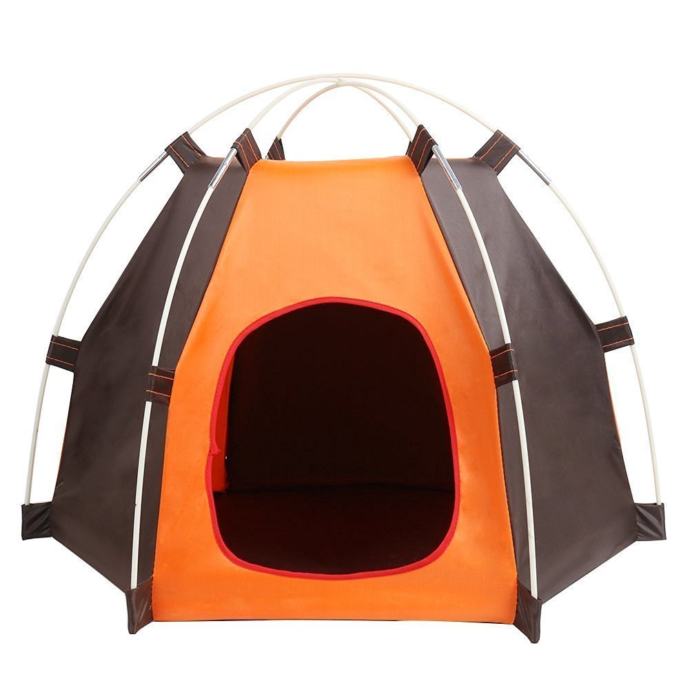 Pet House Folding Cat Dog House Portable Waterproof Pet Tent Indoor ; Outdoor Small Animals Shelter Lovely for Small Dog and Cat