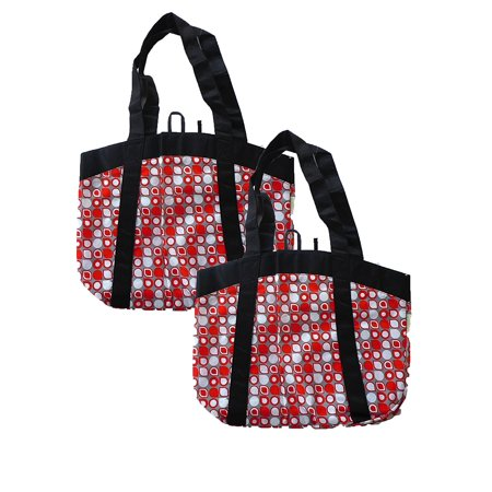 Embossed Fashion Tote - Large Stylish Fashion Tote, Reusable Grocery Bags (2 Bags)