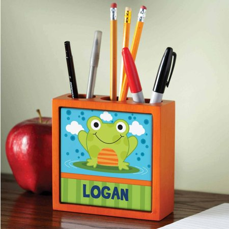 Personalized Sweet Frog Pen Pencil Holder